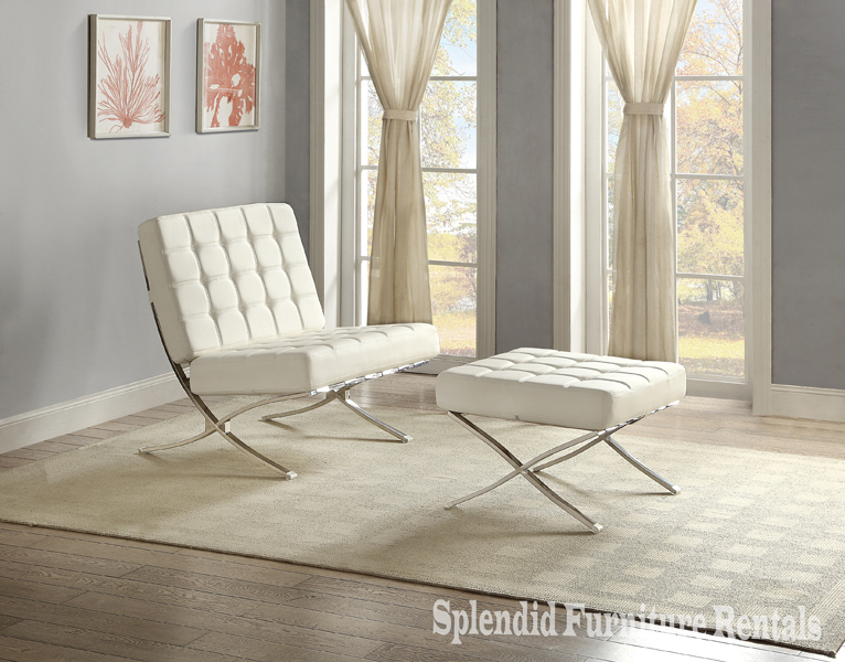 9010WT Accent Chair white