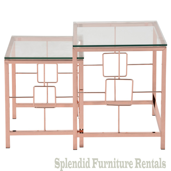 Athena 2Pc Nesting Tables Rose Gold