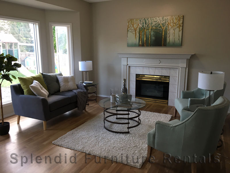 Staged Living Room in Alberta