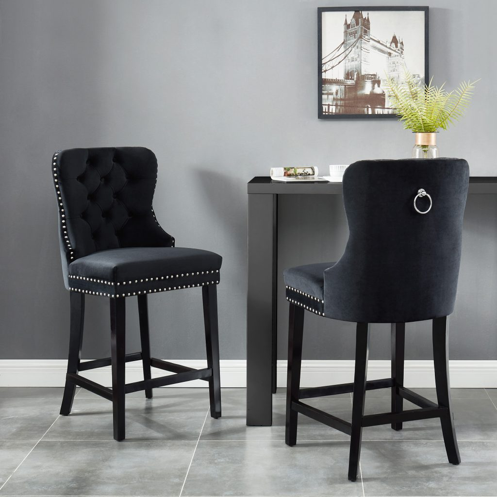 "Rizzo 26"" Black Counter Stool"