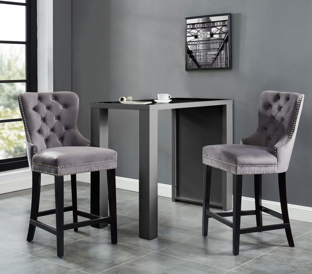"Rizzo 26"" Grey Counter Stool"