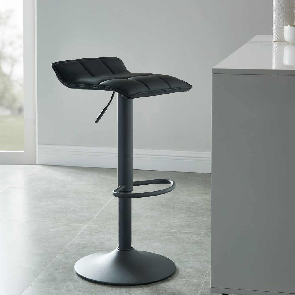 Comet Black Air Lift Stool