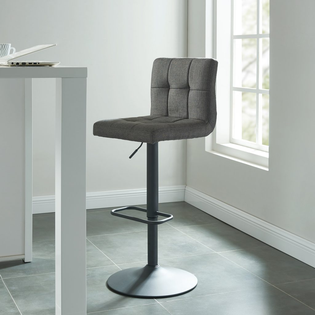 Fusion Grey Air Lift Stool