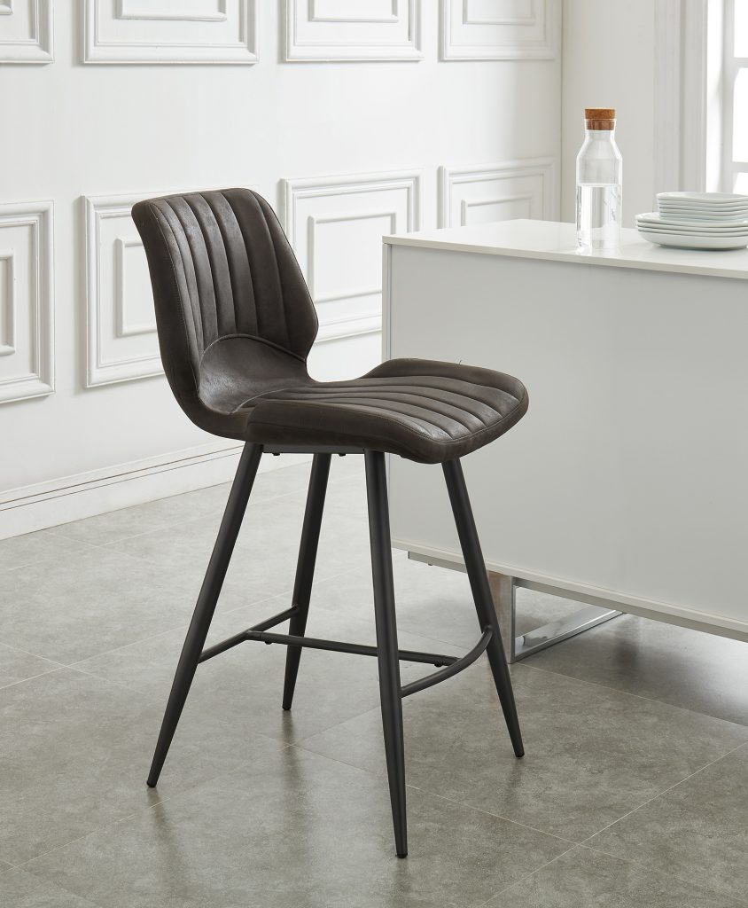 "Aspira 26"" Grey Counter Stool"