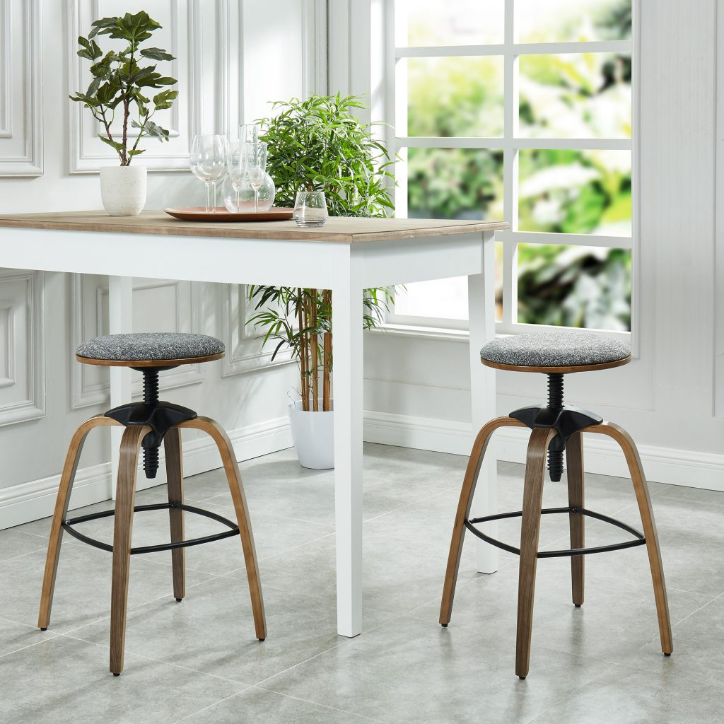 Febo Grey Adjustable Stool