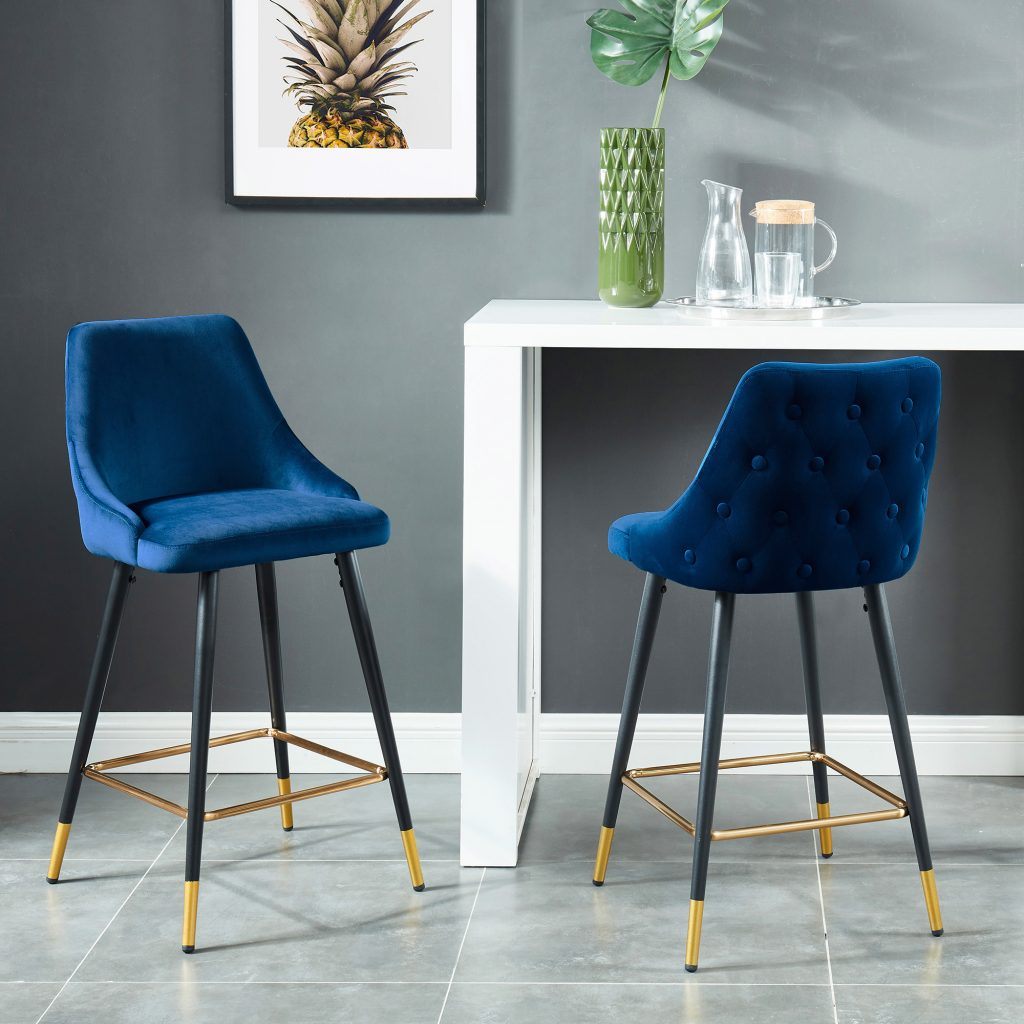 "Roxanne 26"" Blue Counter Stool"
