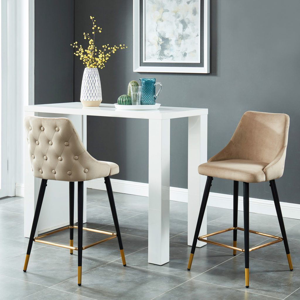 "Roxanne 26"" Taupe Counter Stool"