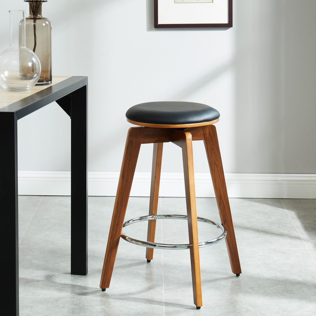 "Rotman 26"" Black Counter Stool"