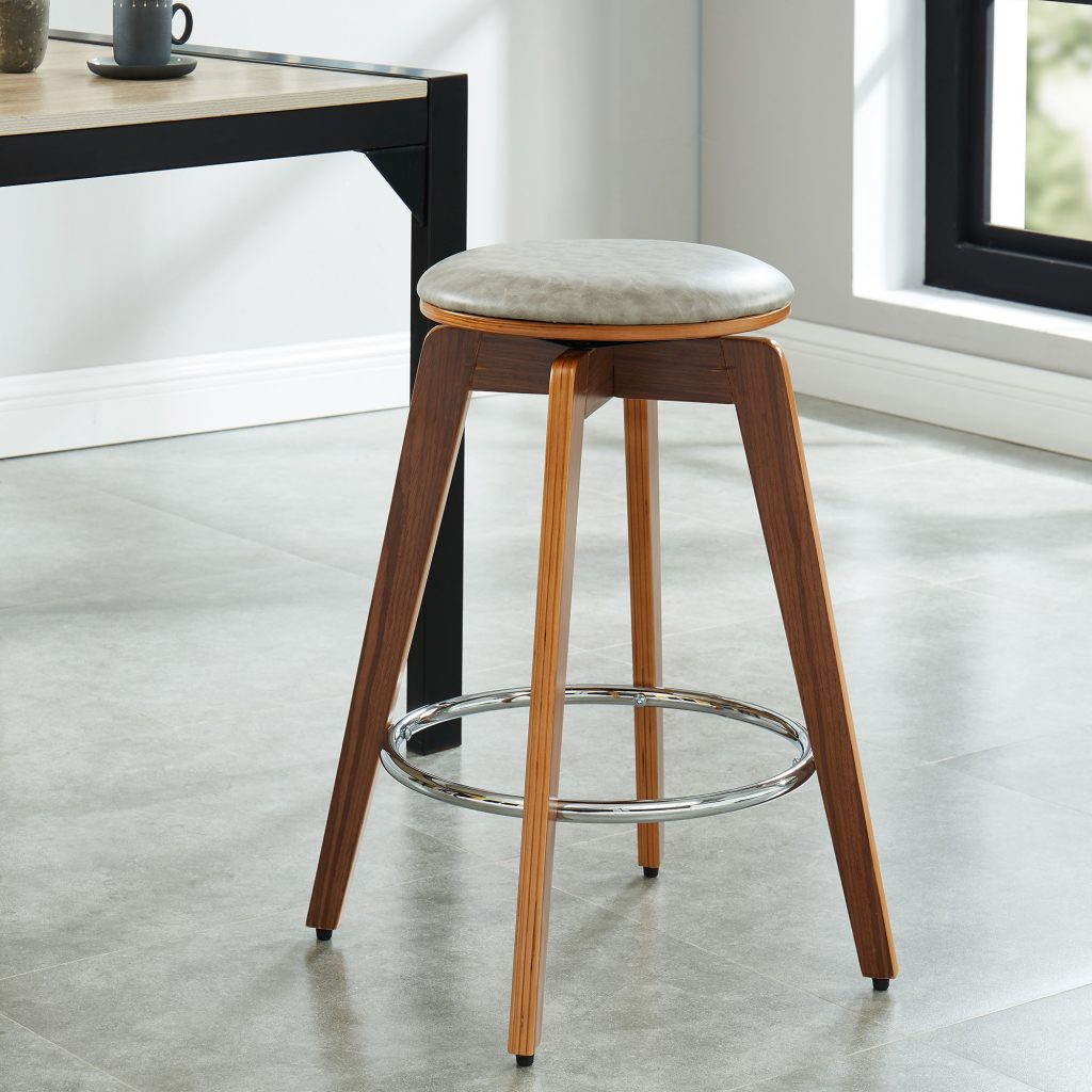 "Rotman 26"" Grey Counter Stool"