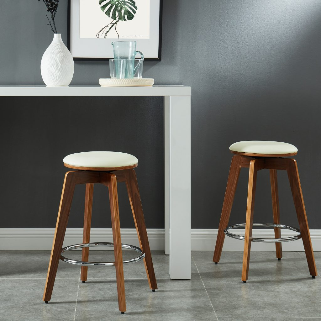 "Rotman 26"" Ivory Counter Stool"