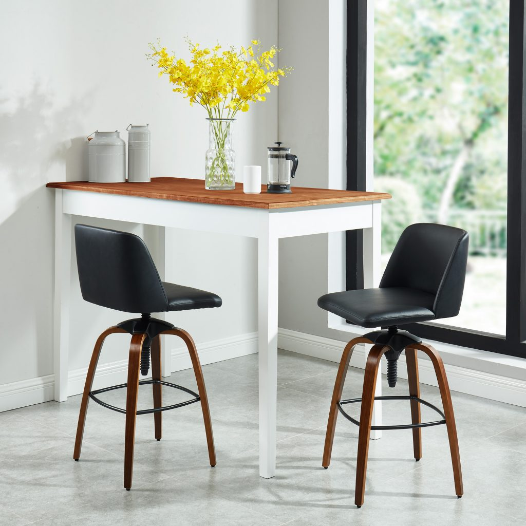 Milo Black Adjustable Stool