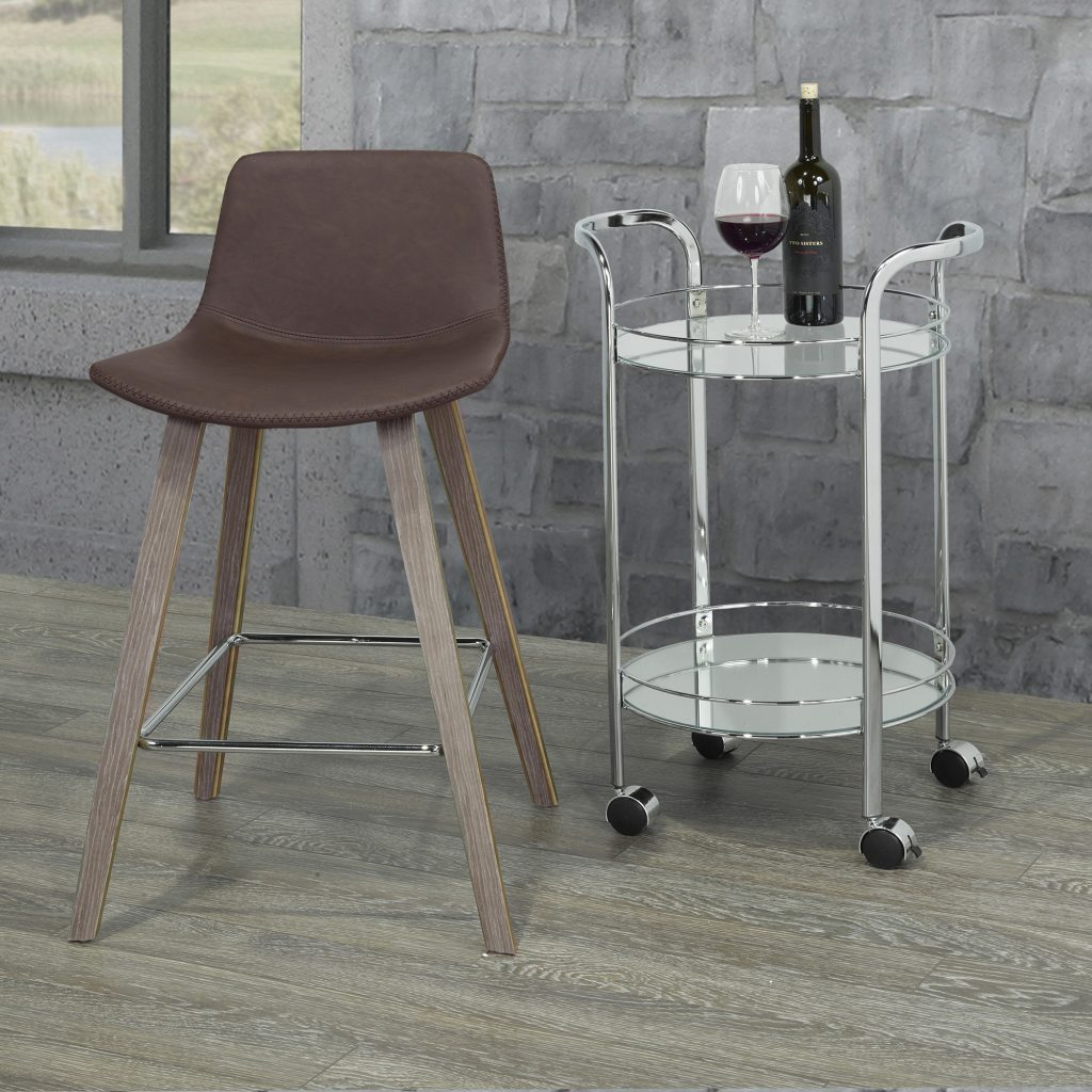 "Durant 26"" Brown Counter Stool"