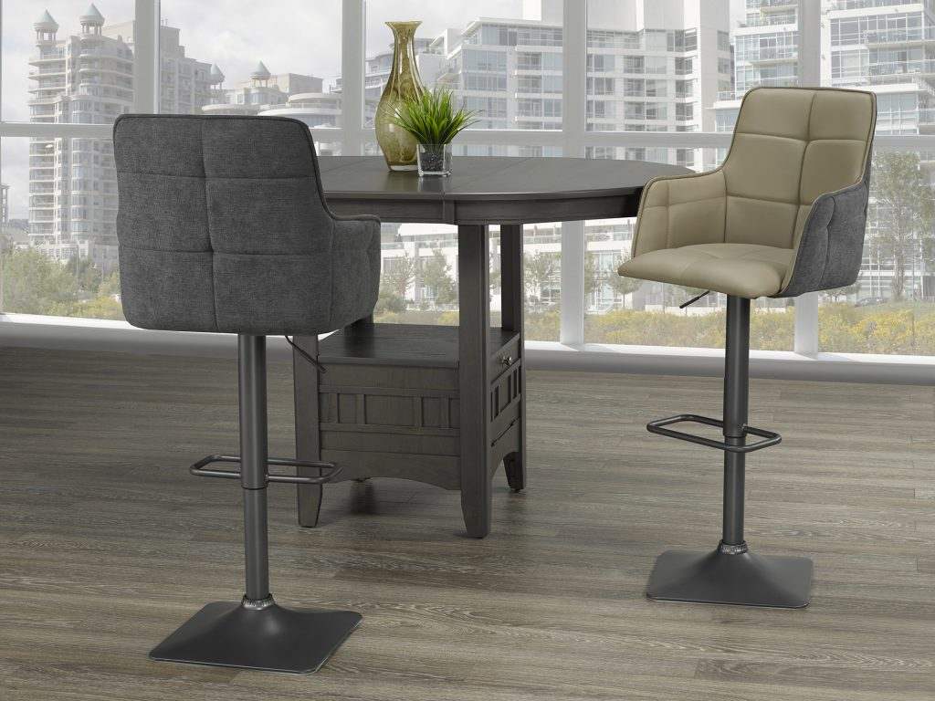 Tonix Taupe & Grey Air Lift Stool