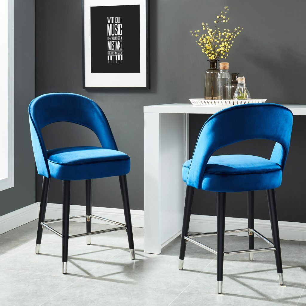 "Vogue 26"" Blue Counter Stool"