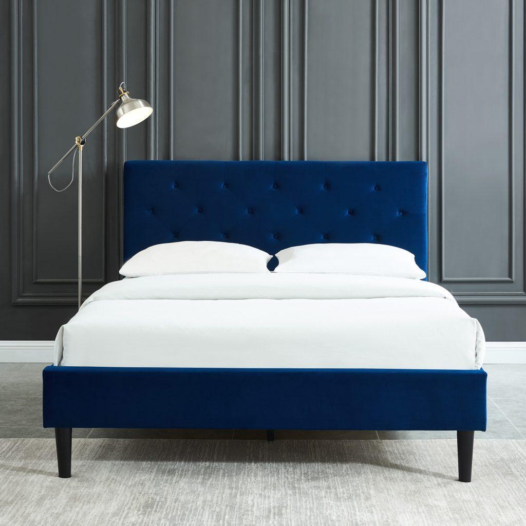 Armando Platform Blue Bed