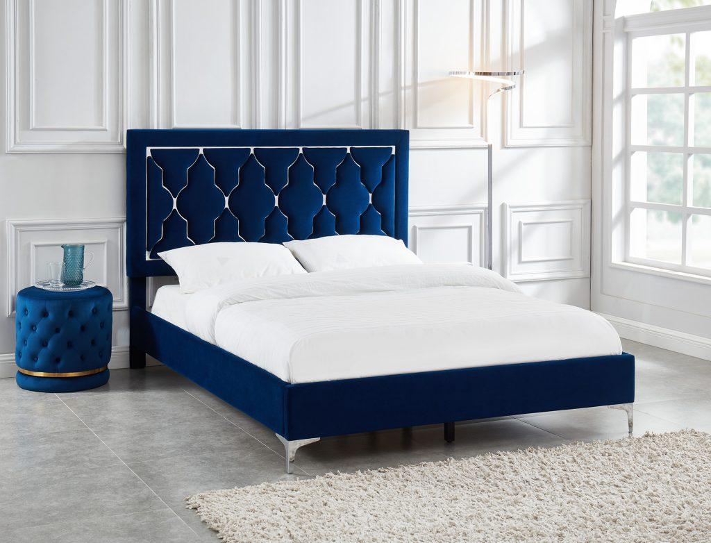 Dolce Platform Blue Bed