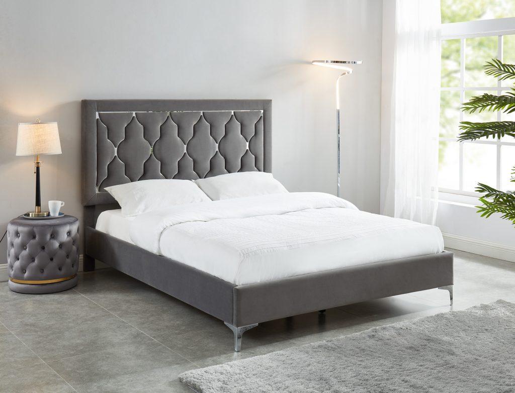 Dolce Platform Grey Bed