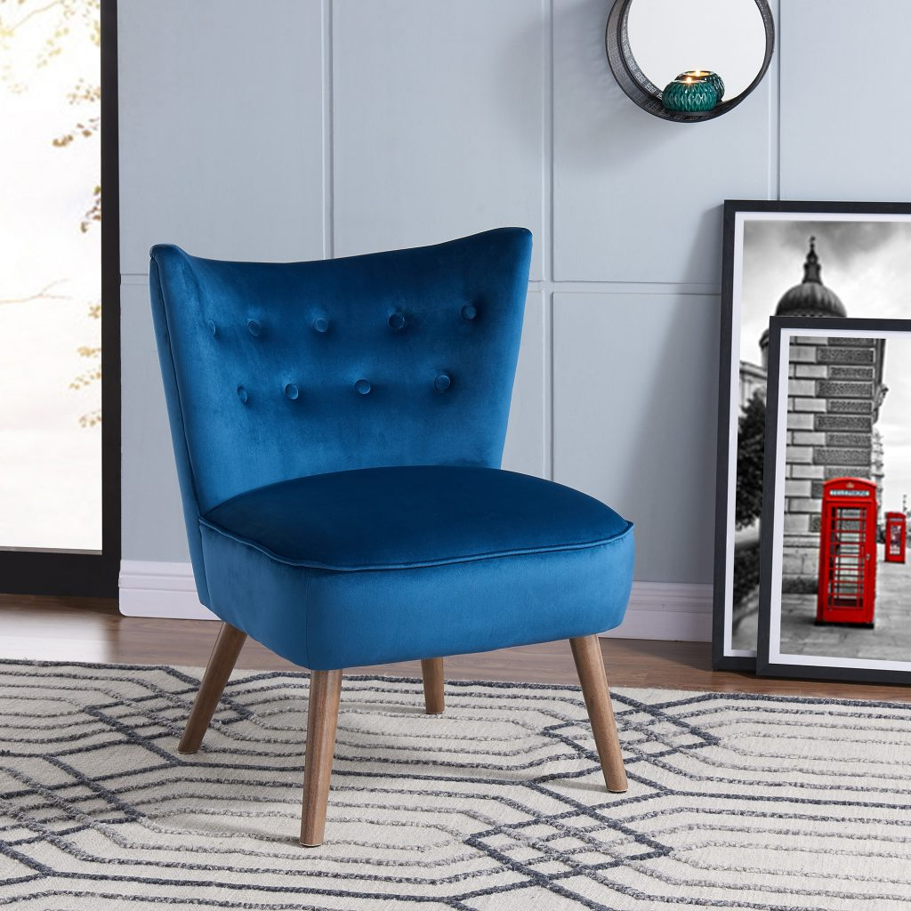 Elle Blue Accent Chair
