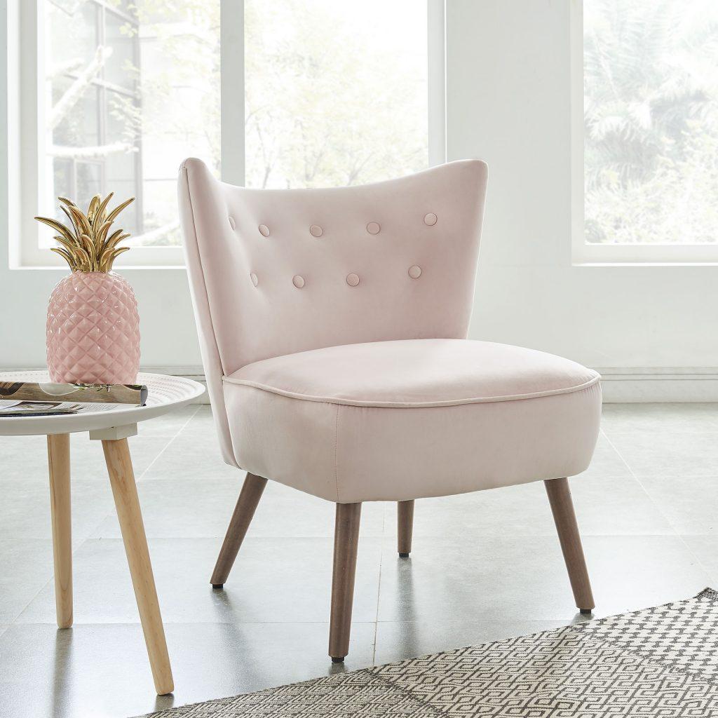 Elle Blush Accent Chair