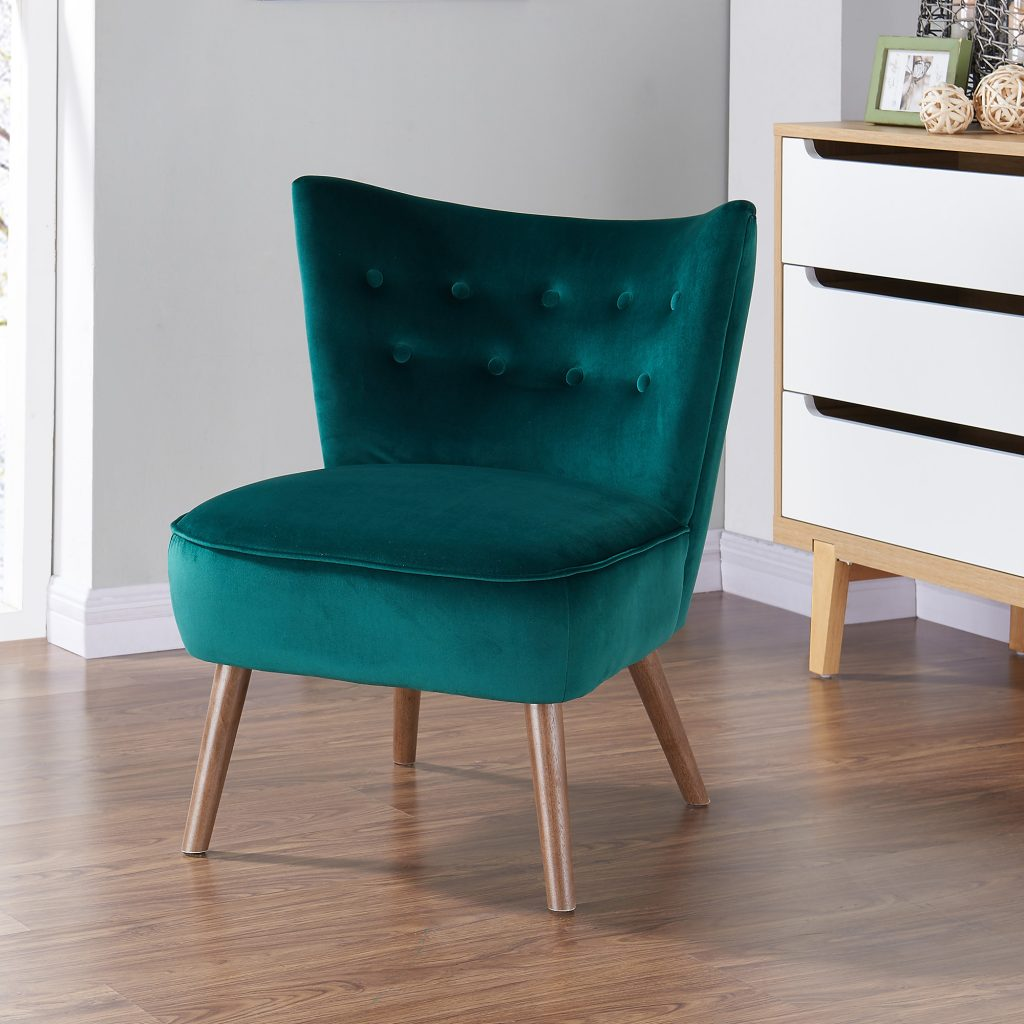 Elle Green Accent Chair