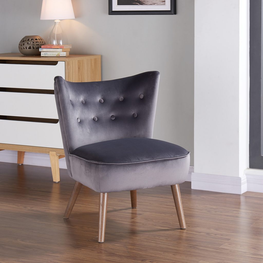 Elle Grey Accent Chair