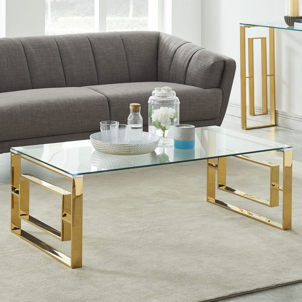 Eros Gold Coffee Table