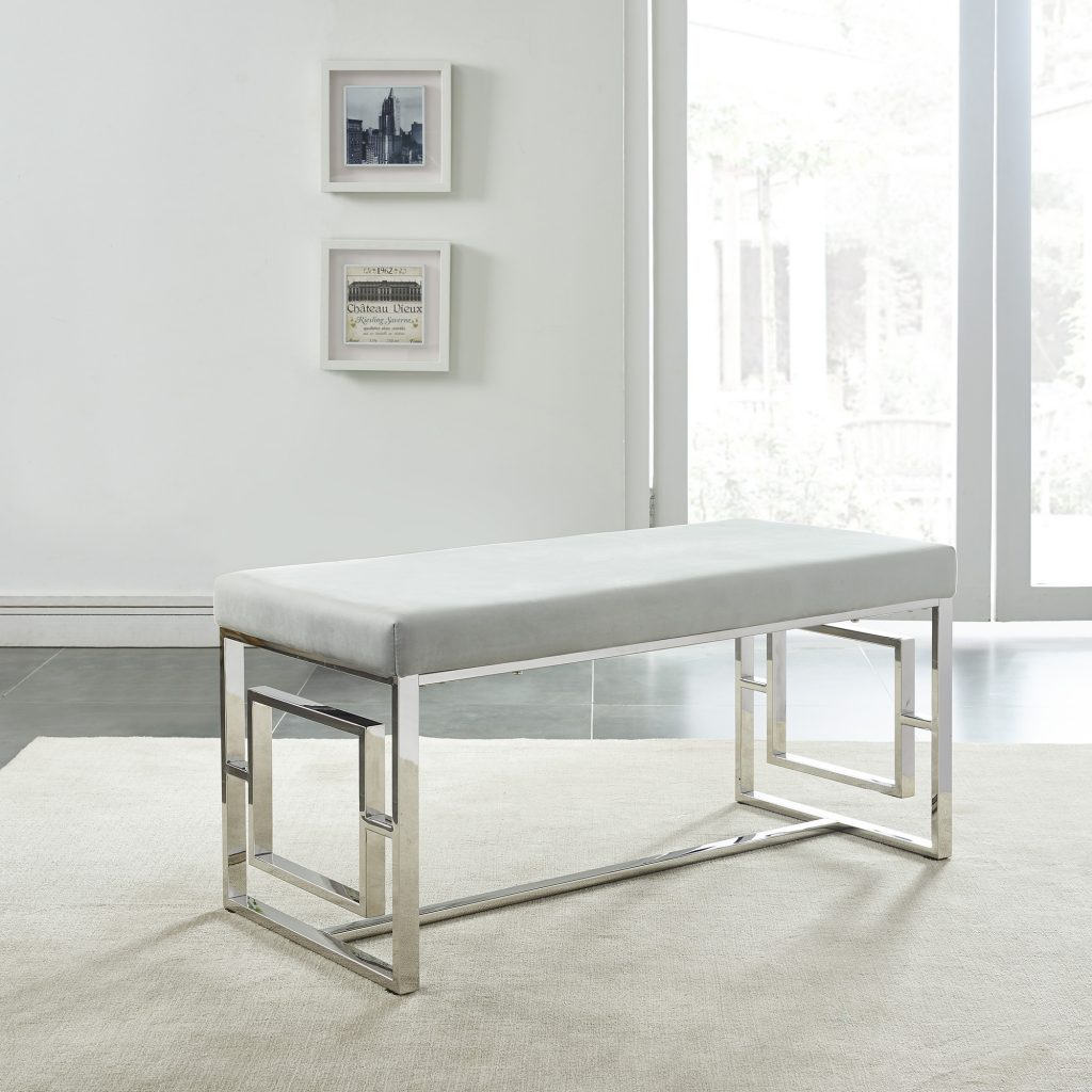 Eros Silver & Grey Bench