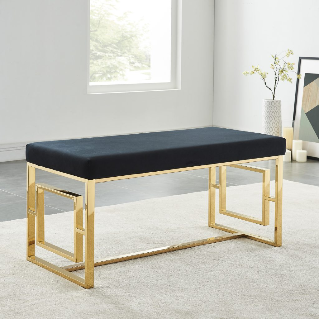 Eros Gold & Black Bench