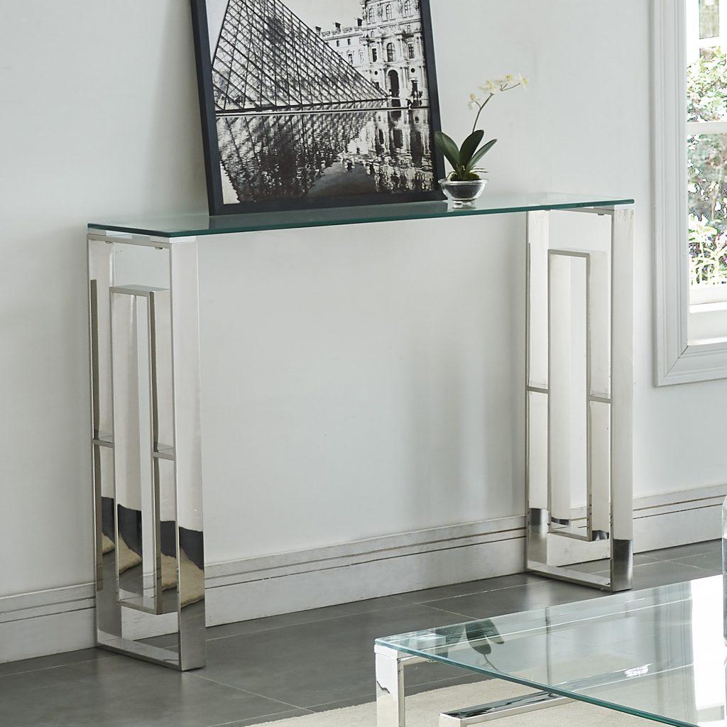Eros Silver Console Table