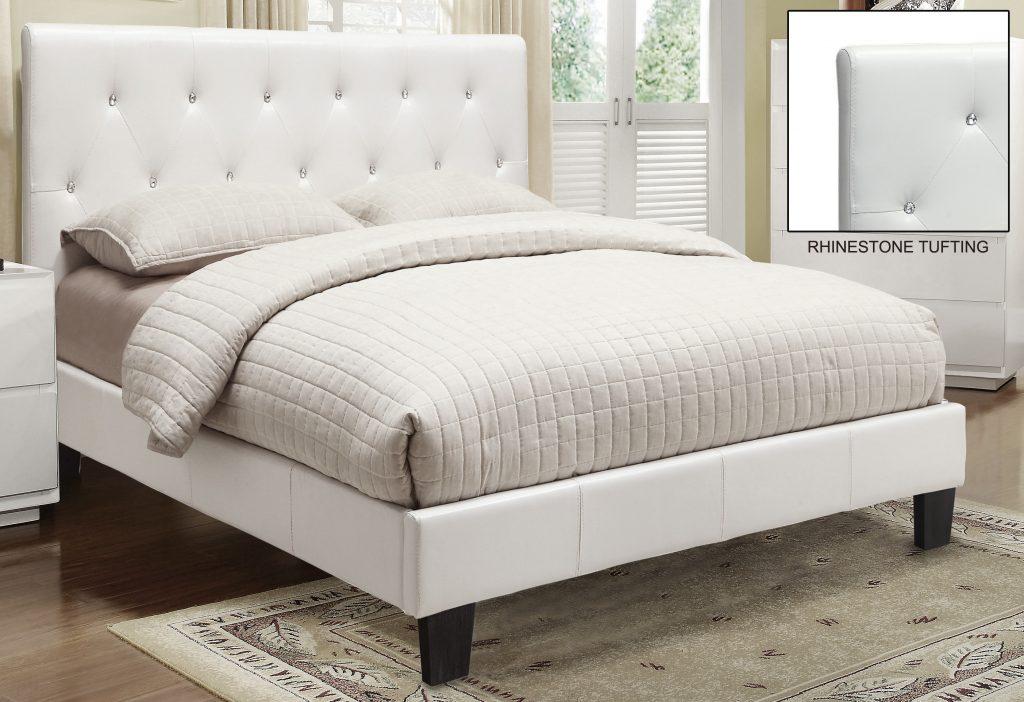 Glitz Platform White Bed