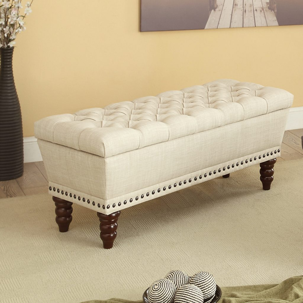 Hampton Beige Storage Bench
