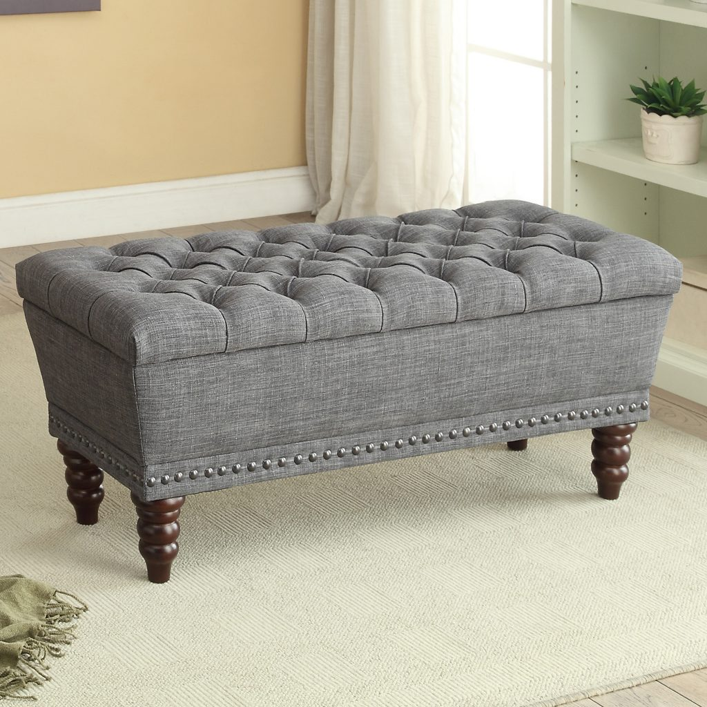 Hampton Grey Storage Bench