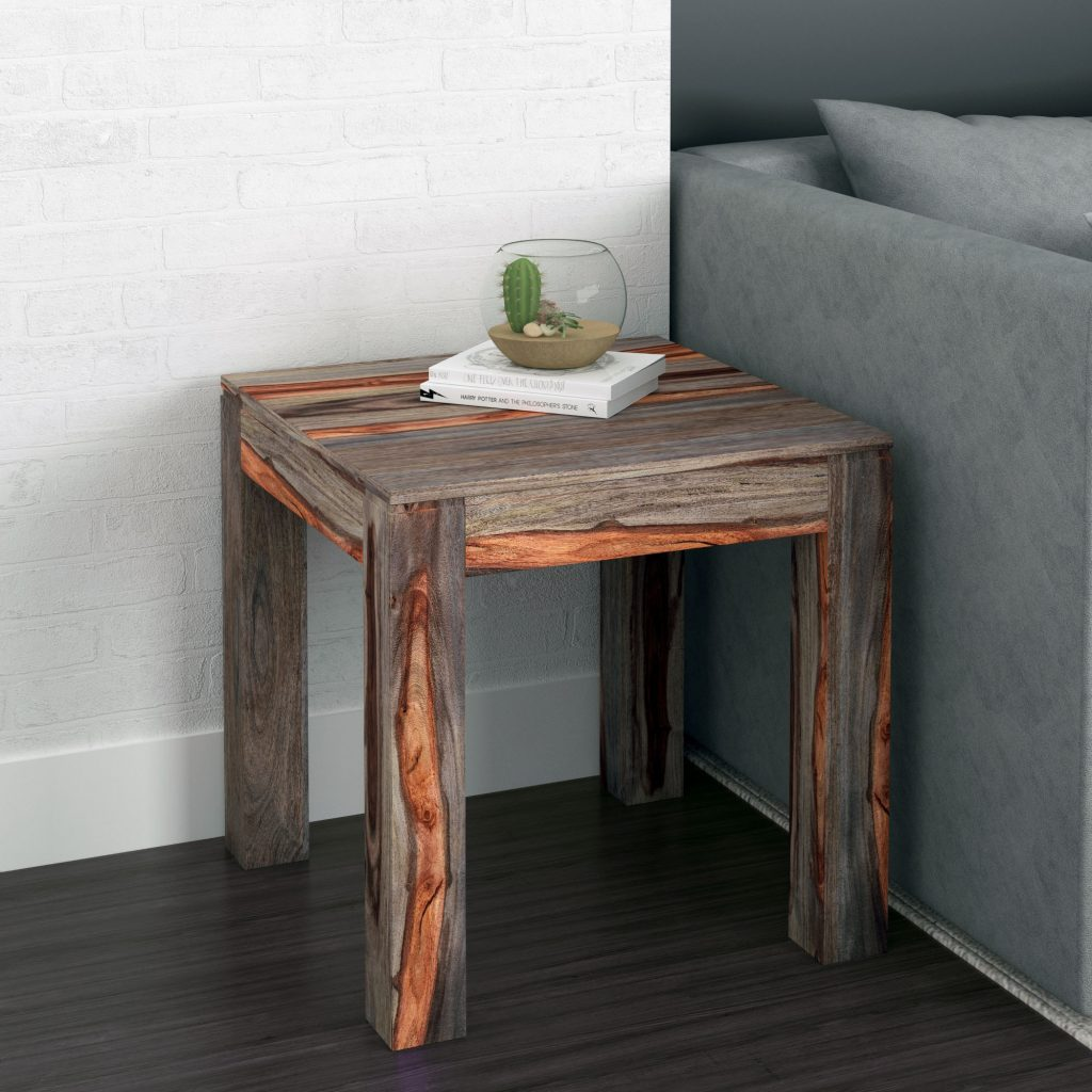 Idris Grey Accent Table