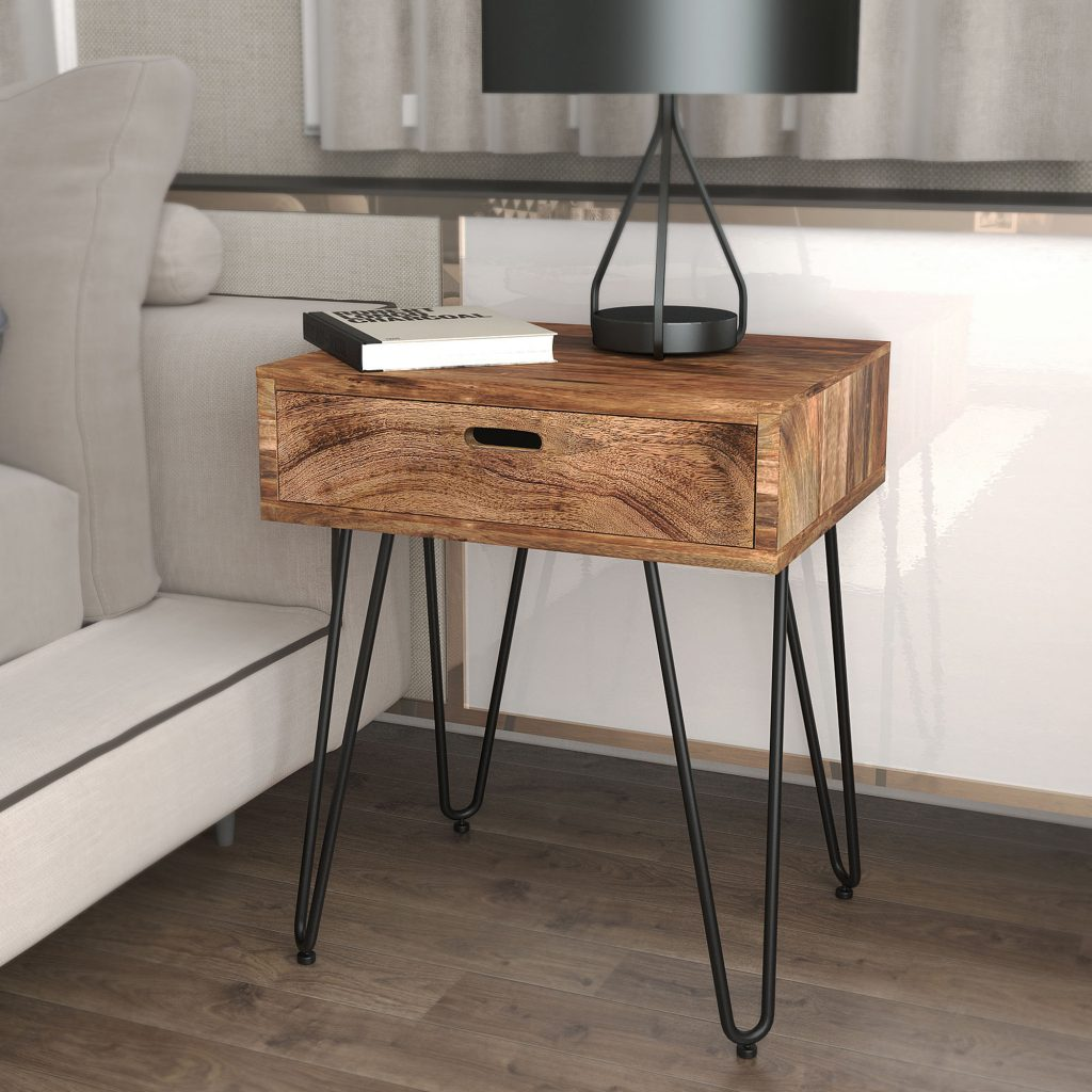 Jaydo Natural Burnt Accent Table