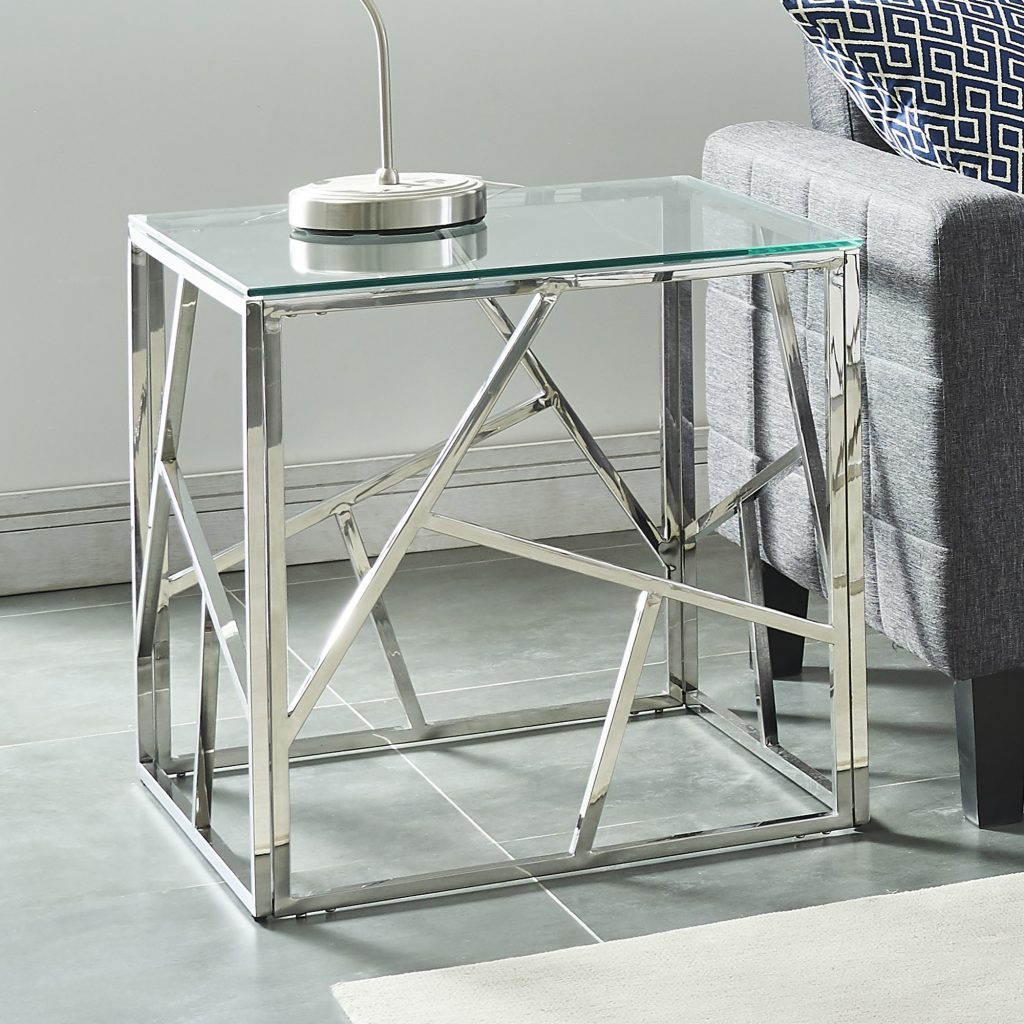 Juniper Silver Accent Table