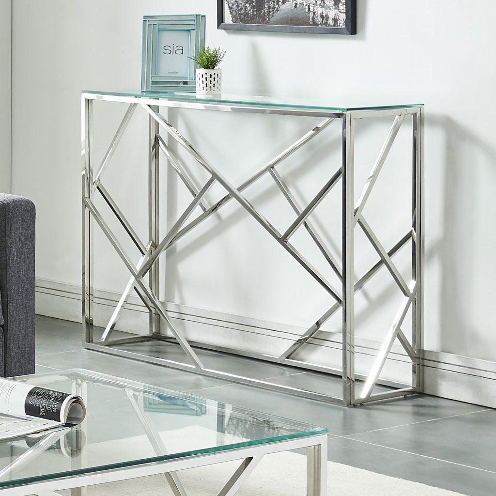Juniper Silver Console Table