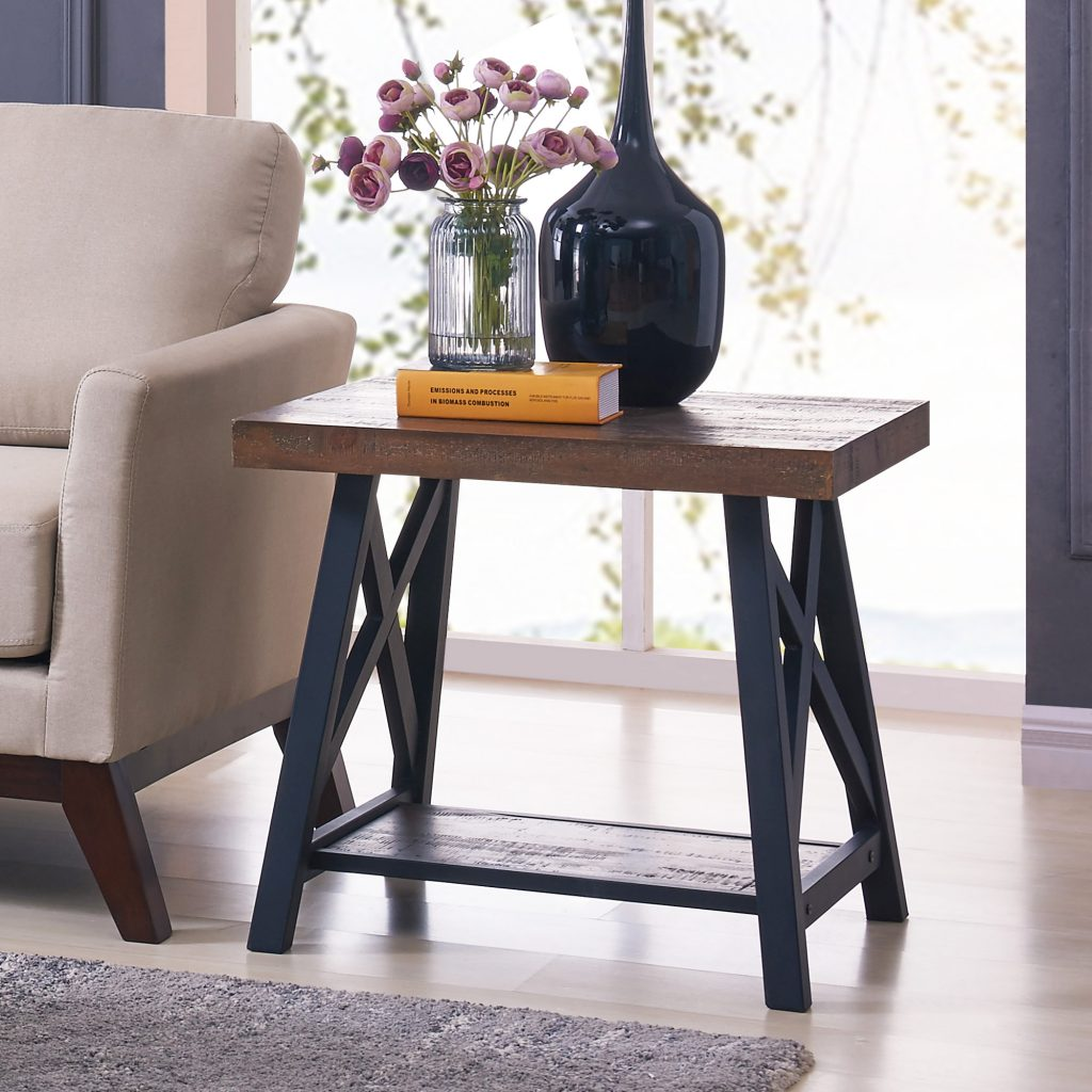 Langport Rustic Oak Accent Table