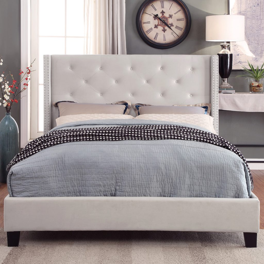 Lino Platform Ivory Bed