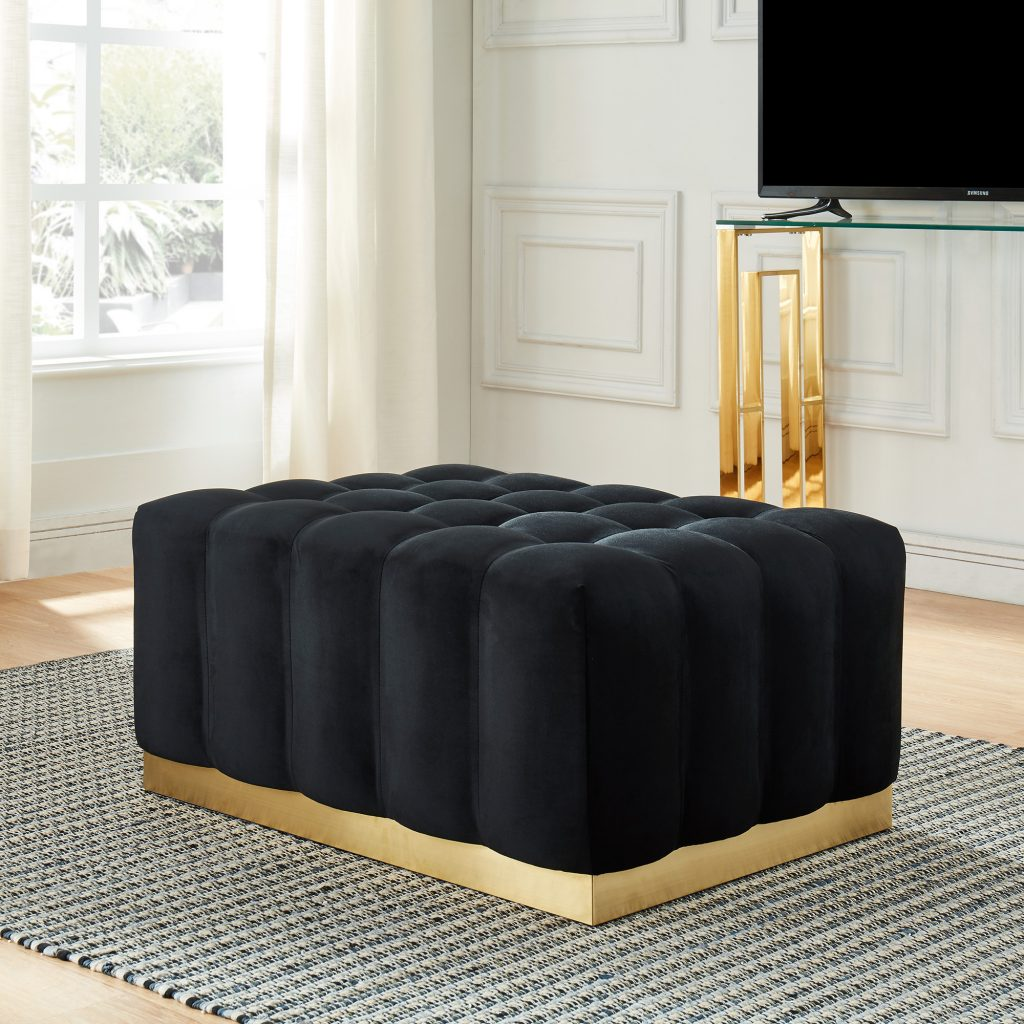 Magnum Black & Gold Cocktail Ottoman