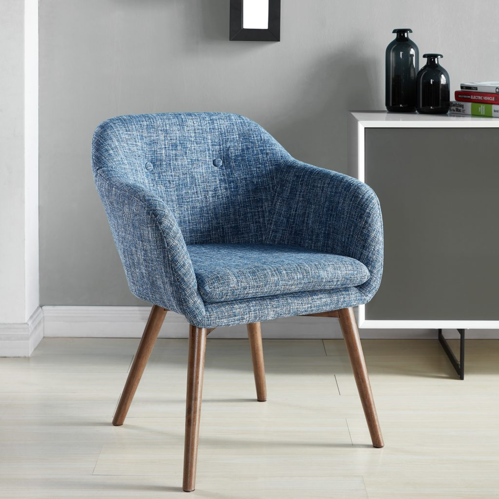 Minto Blue Blend Accent Chair