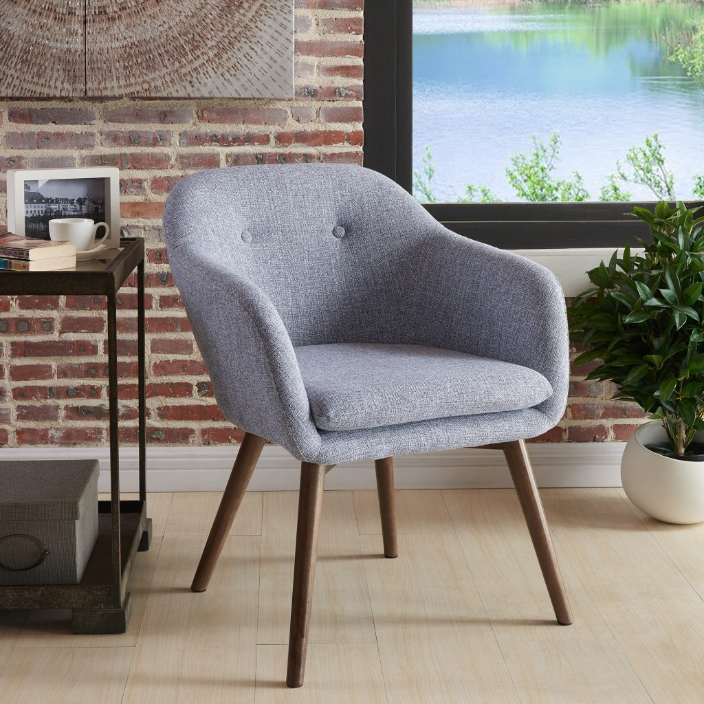 Minto Grey Blend Accent Chair