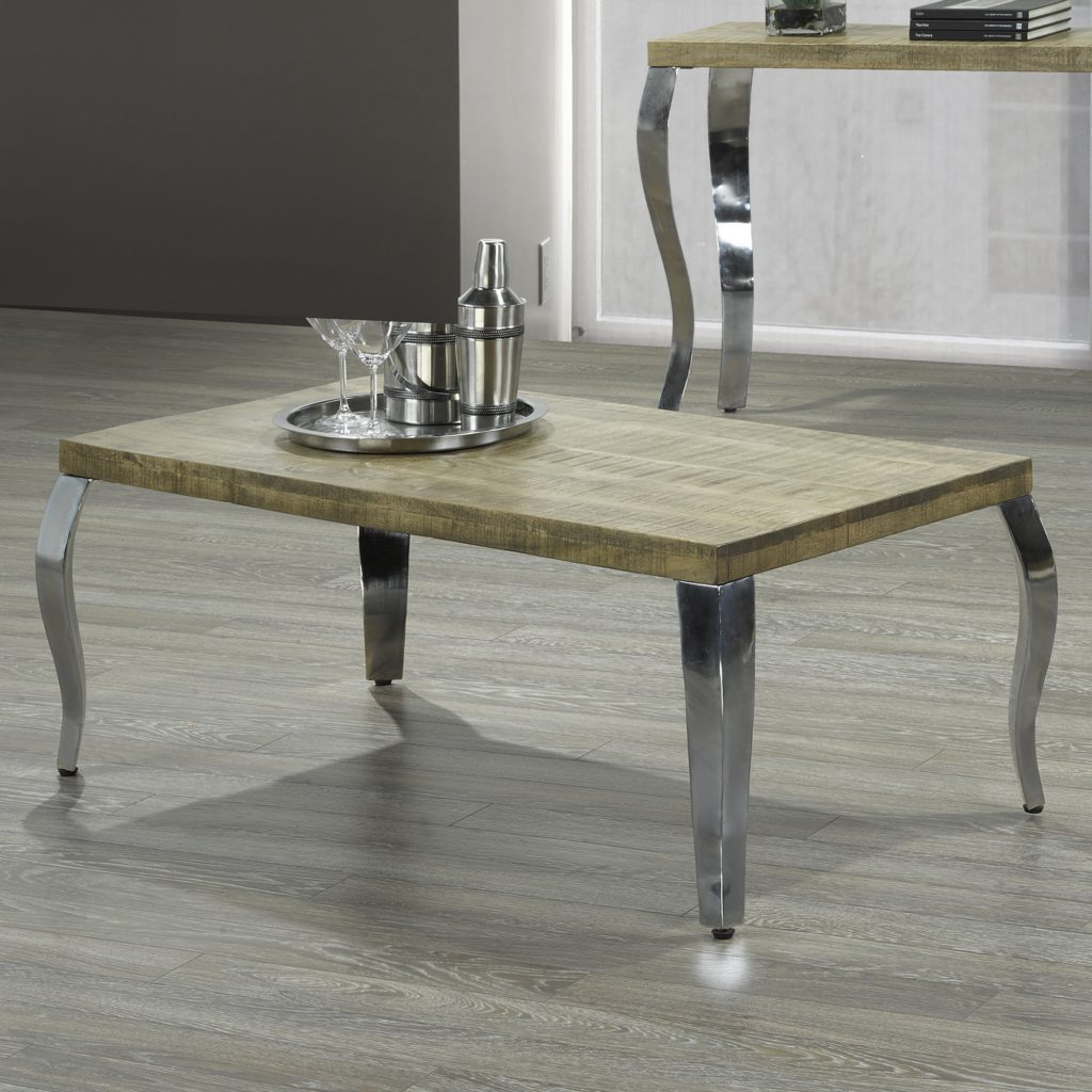 Natalia Reclaimed & Chrome Coffee Table