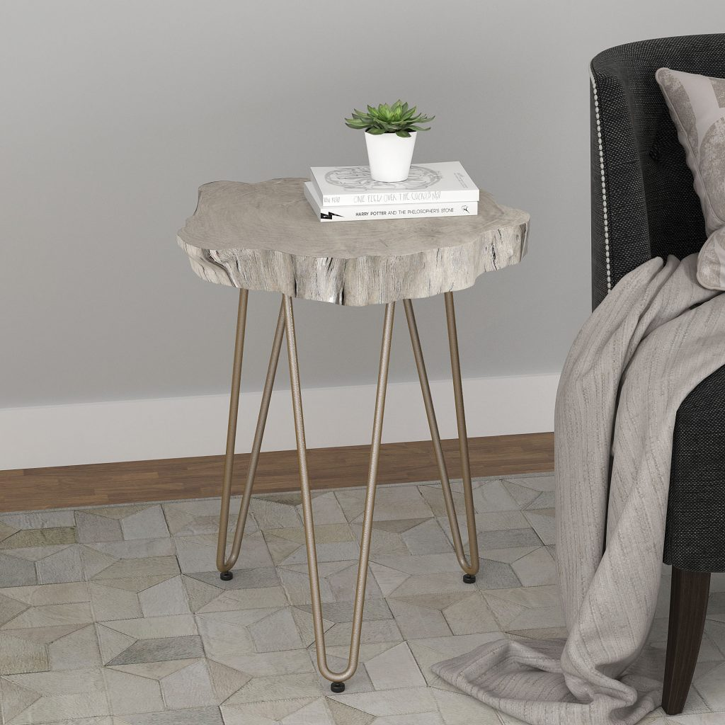Nila Light Grey Accent Table