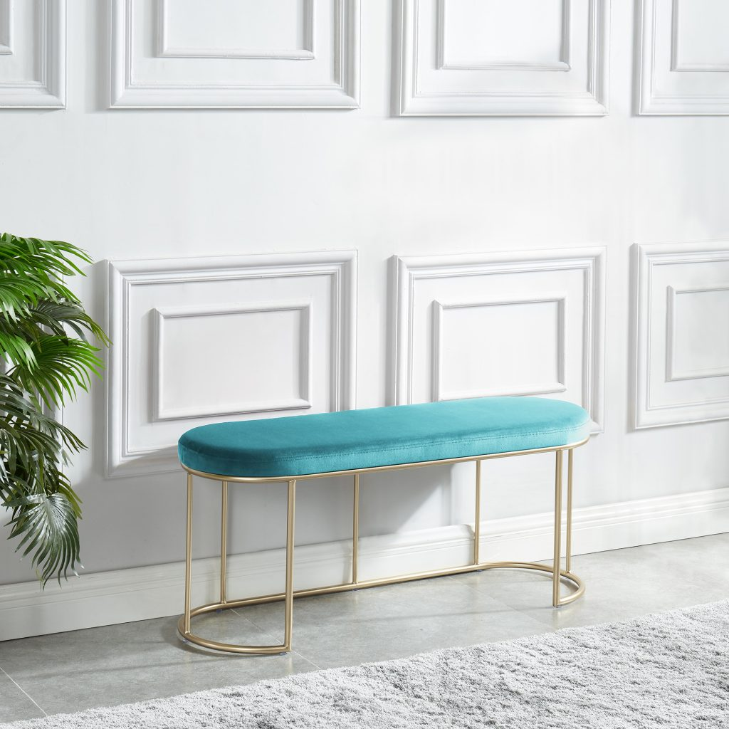 Perla Teal & Gold Bench