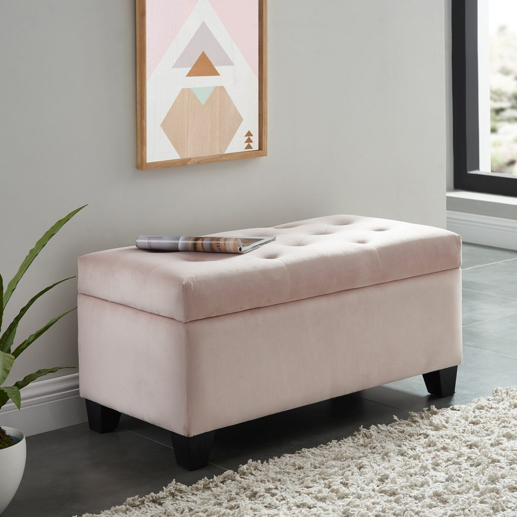 Sally Storage Blush Ottoman