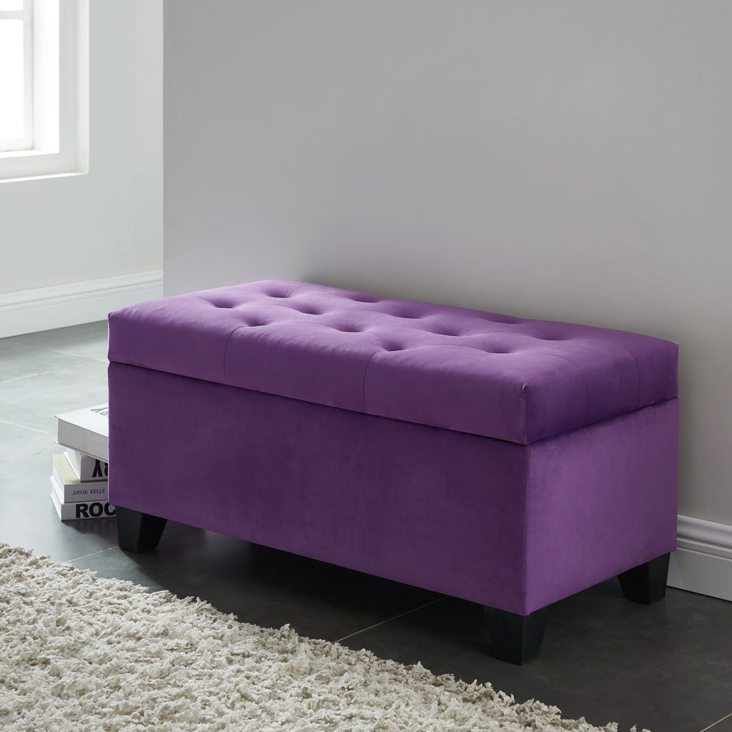 Sally Purple Storage Ottoman