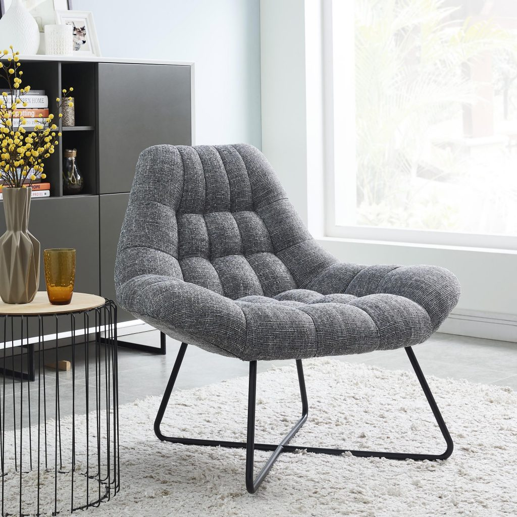 Shelby Grey Blend Accent Chair