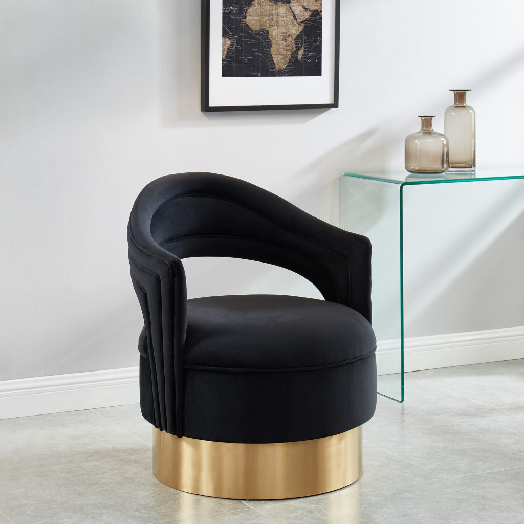 Sloane Black & Gold Accent Chair