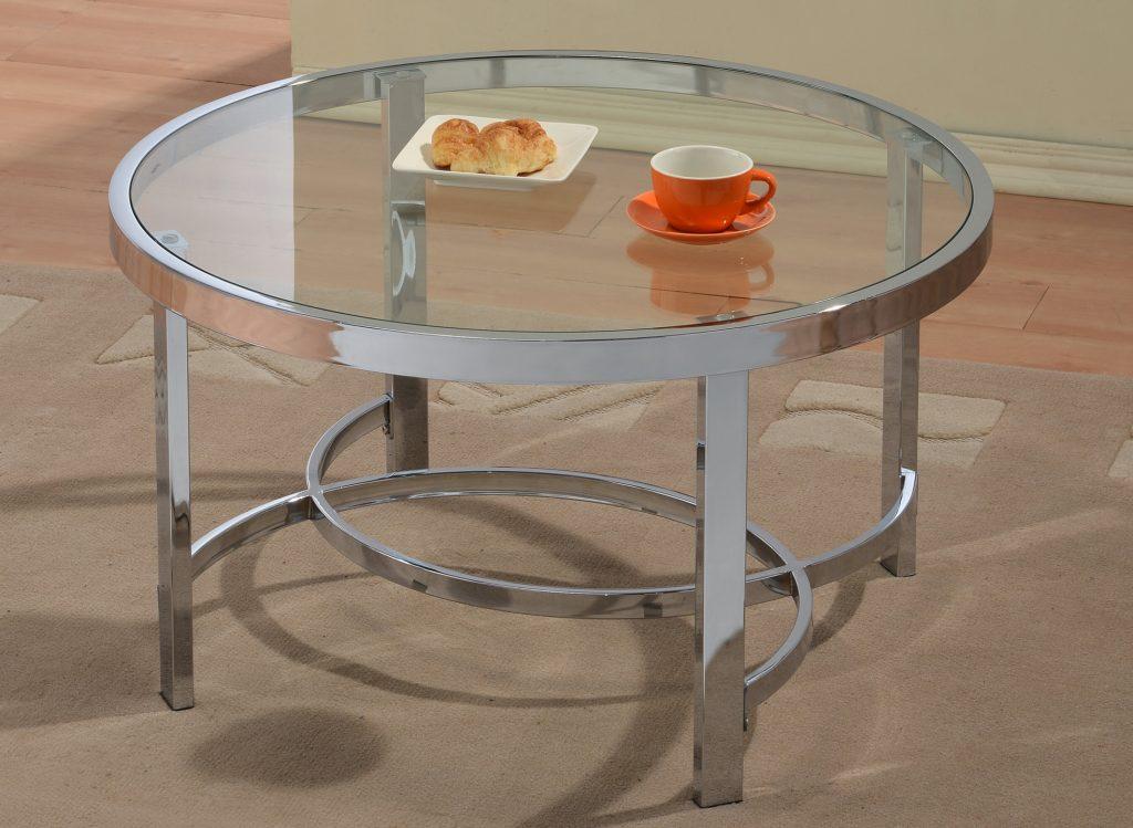 Strata Chrome Coffee Table