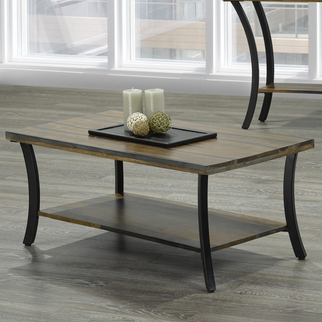Surin Natural & Grey 2-Tone Coffee Table